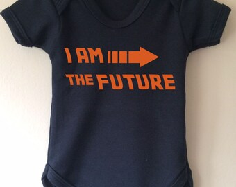 I am the future - Back to the Future Inspired baby bodysuit vest
