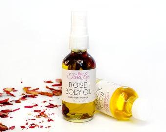 Rose Body Oil, Body Hydration, Skin Moisturizer, Massage Oil, All Natural, Spa, Luxurious Hydration. Rosehip Oil Jojoba oil, TaraLee
