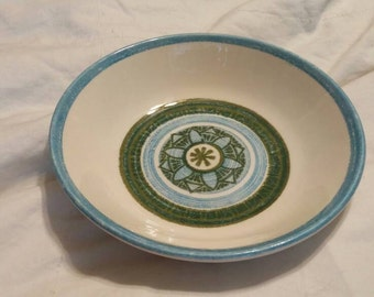 On Sale Taylor Smith Taylor Blue and Green Replacement Serving Bowl Vintage China with Blue Flower or Star