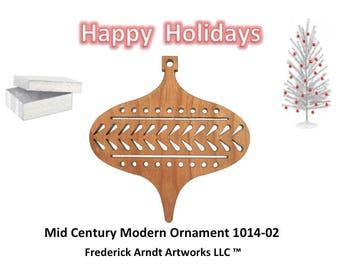1014-2 Mid Century Modern Christmas Ornament