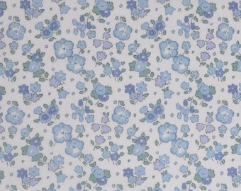 Liberty fabric Tana Lawn Ella and Libby 9''x26'' Fat Eighth -  Blue