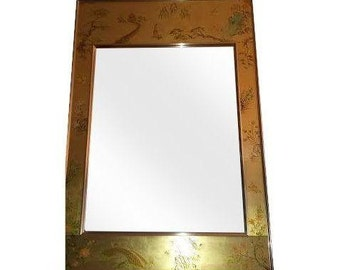 LaBarge Eglomise Chinoiserie mirror