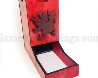 Griffin Dice Tower, Dice Tower, Wood Dice Tower, Griffin, Medieval, Medieval Dice Tower