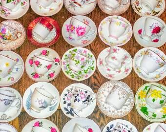 Job lot etsy 20 40pcs vintage mismatched coffee cups saucers small shot espresso mix set afternoon junglespirit Images
