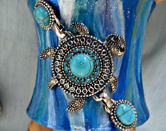 Jewelry_sea turtle cuff bracelet for mermaids_beach jewelry