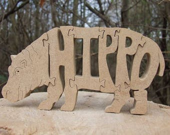 Hippo ornament, hippopotamus, hippo sculpture, hippo gift, hippo ornament,  wooden hippo, hippo lover gift, wildlife ornament,