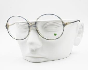 Mediun Big round eyeglass eyewear frame, GREENSYSTEM 2074, Vintage 1960s New Old Stock