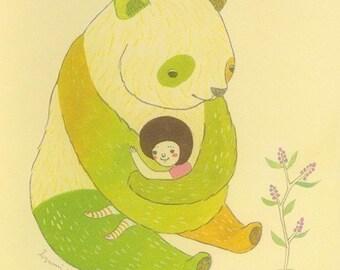 Notecard (Panda Hug)