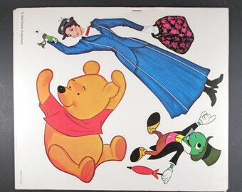 Vintage 1970s Disney Punch Outs, Heavy Die-Cut Paper, 8 Unused Sheets, Golden Press Cut Outs