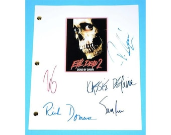 Evil Dead 2 Dead By Dawn 1981 Movie Script Signed Screenplay Autographed: Sam Raimi, Bruce Campbell, Kassie Wesley DePalva, Richard Domeier