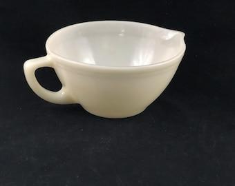 Vintage Federal Glass Company Milk Glass Batter Bowl