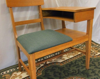 Restored Vintage Telephone Chair / Desk / Bench