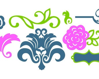 Flourish Vector Art SVG Files