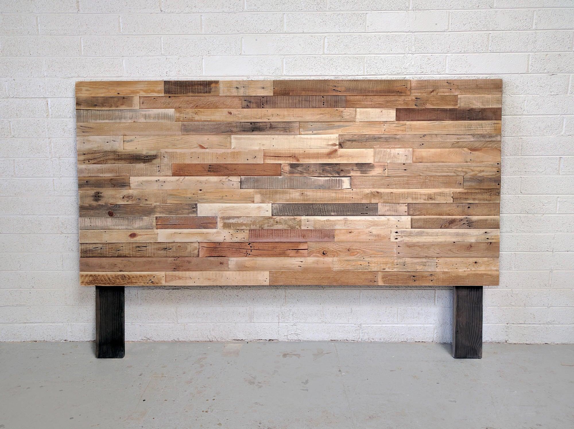 reclaimed wood headboard or bed custom reclaimed king queen. Black Bedroom Furniture Sets. Home Design Ideas
