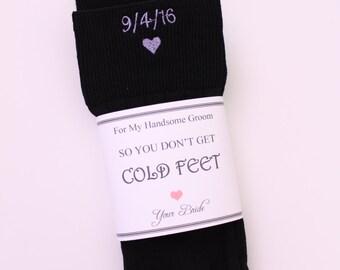 Groom Socks with bride groom Intials, BLACK Wedding Socks. Monogrammed Socks. Groom Wedding Gifts. Anniversary socks. Personalized Socks