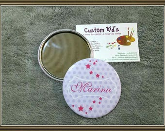 Custom 75 mm Pocket mirror and pouch