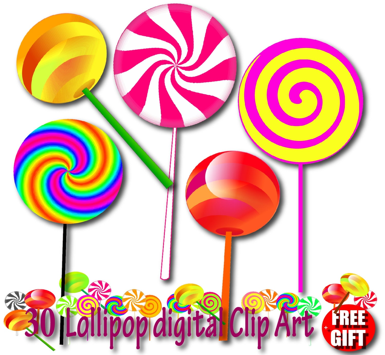 lollipop clipart chocolate lollipop invitation candy lollipops rh etsystudio com candyland clipart free candyland clipart free