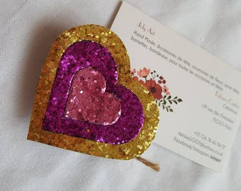 Heart shaped brooch JolyArt