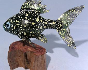 Gourd Fish Sculpture #20, Starry Night