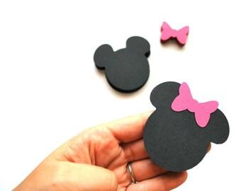 32 Minnie Mouse die cut. Minnie Die cuts, (2.5 INCHES) Minnie Die cut   A258
