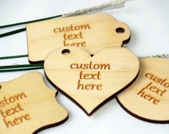 Custom wood tags, custom tags, custom thank you tags, personalized tags, custom wedding tags, custom baptism tags, favor rustic, wood tag