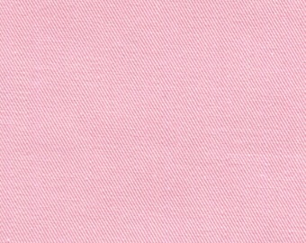Recycled Water Bottle Fabric ORGANIC Cotton Blend Eco Twill Light Pink MULTIPURPOSE