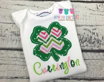 Baby Girl St Patrick's Day Shirt - St Patricks Day Outfit - St Patricks Day shirt - Baby Girl Shamrock Shirt - St Patrick's Clothes