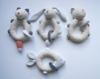 Handmade crochet rattle| Baby rattle| Crochet rattle| Crochet baby toy| Crochet baby rattle| Teething toy| Rassel Häkeln| Ecofriendly toy