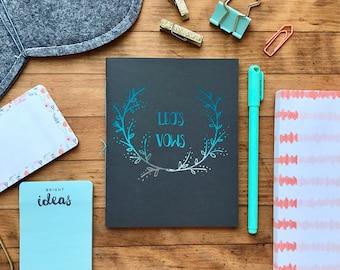 Personalized Wedding Vow Books, Wedding Keepsake, Custom Vow Books (Set of 2)