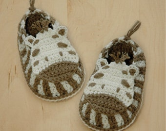 Zebra Baby Booties Crochet Pattern Zebra Preemie Socks Animal Shoes Crochet Patterns Zebra Shoes Crochet Newborn Zebra Booties by Kittying