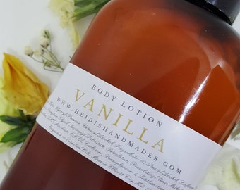 Vanilla Lotion - Vanilla Body Lotion - Vanilla Hand and Body Lotion
