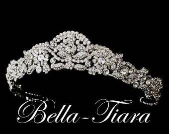 Wedding crown etsy crystal wedding tiara crystal bridal tiara wedding crown vintage bridal tiara antique junglespirit Choice Image