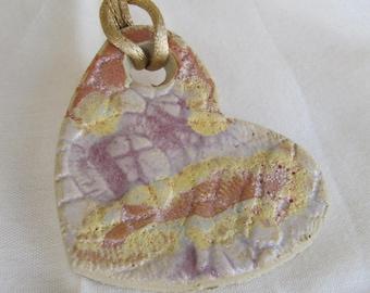 statement pendant,Handmade ceramic jewelry ,ceramic pendant, Heart shape pendant, statement Necklace, Handmade jewelry, Colorful necklace,