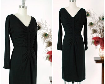 Vintage 1960s Dress - Gorgeous Dorothy O'Hara 60s Dress with Center Placket and Radiating Draping from Incredible Collection