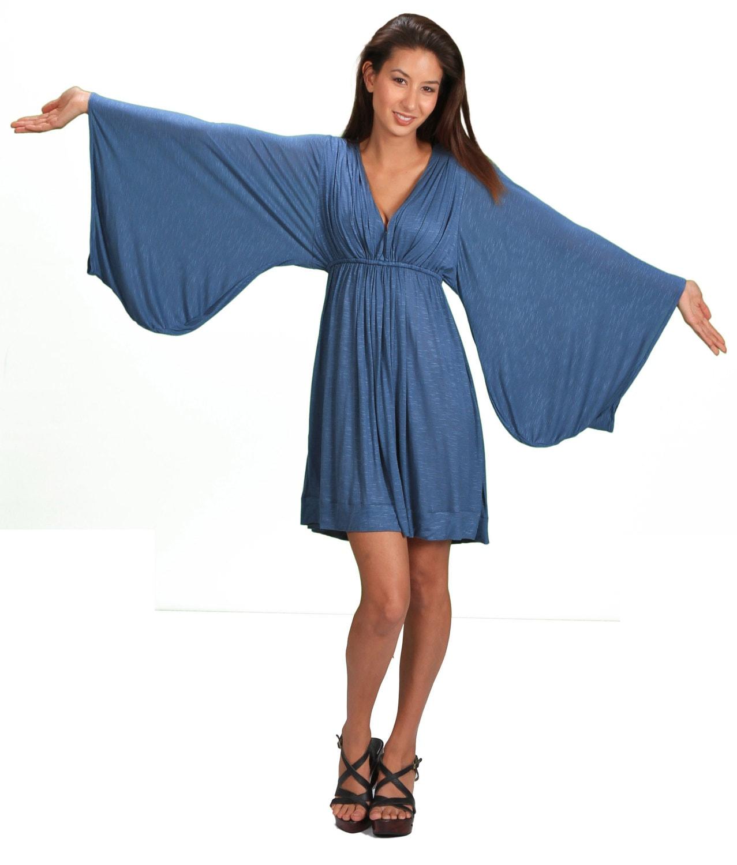 Bell Sleeve Goddess Dress in Periwinkle Summer Fashion Festival Wear ...