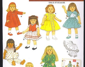 Simplicity 18 inch Doll Clothes Wardrobe Archives Reproduction 1950s Pattern 4347