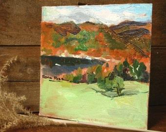 """original oil painting, """"Lakeview""""  Landscape painting, Autumn landscape, Fall colors"""