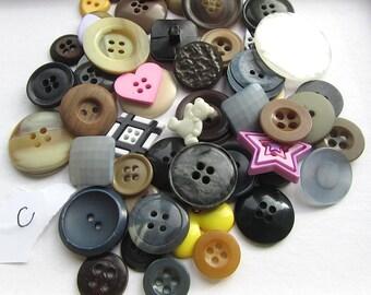 Destash Buttons Random Mixture Bargain Bag C