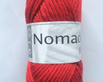 thread crochet cotton-acrylic Nomad MIX red white horse 040
