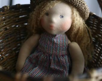 "Waldorf Doll Milena 14""(36sm), natural fiber art doll"