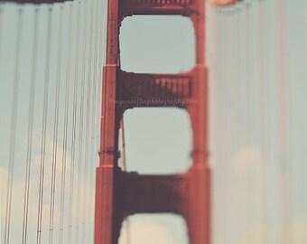 Clearance sale, Golden Gate Bridge photo, red, San Francisco print, travel photography, architecture, wall art, California decor