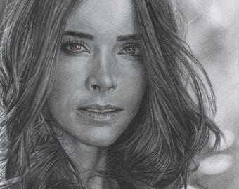 Print of Graphite Pencil Drawing of Abigail Spencer (8.5 x 11)