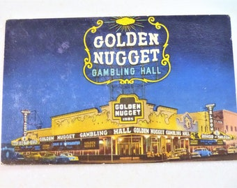Vintage Postcard Las Vegas, NV Golden Nugget Casino Gambling Hall