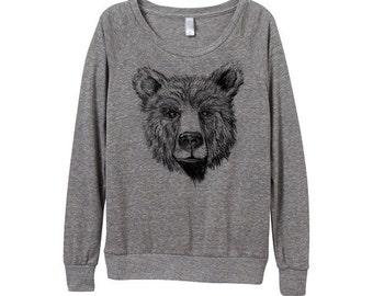 Teddy Bear Sweater  - Womens Bear Sweatshirt   - Small, Medium, Large, Extra Large (3 Color Options)