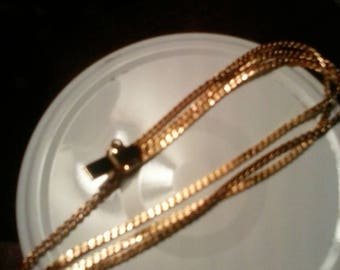 New Old Stock Gold Plate Chain BRACELET with Box Clasp