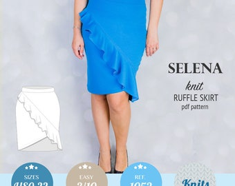 Skirt pattern pdf / PDF sewing patterns for women with sewing tutorial