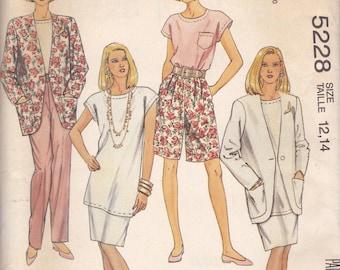 Basic Wardrobe Pattern McCalls 5228 Sizes 12 14 Uncut