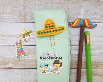 Sombrero Planner Clip - Sombrero Paper Clips - 5 de Mayo Paper Clips - Planner Accessories  - Journal Marker - Sombrero Bookmark