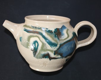 ceramic teapot 1 Mokume gane