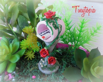 Rose Covered Fairy Mailbox OOAK